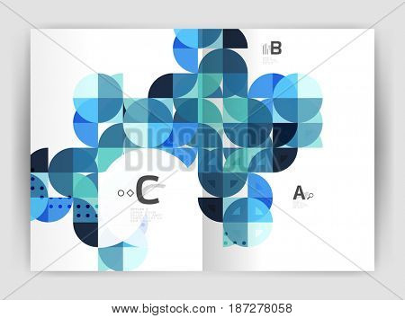Print template modern elegant background triangle annual report. design for workflow layout, diagram, number options or web design
