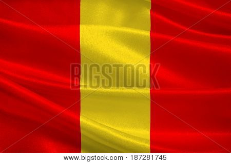 Flag of Senlis is a commune in the Oise department in northern France. 3d illustration