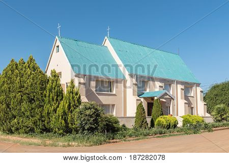 PHILIPPOLIS SOUTH AFRICA - MARCH 21 2017: An historic old building in Philippolis the oldest town in the Free State Province