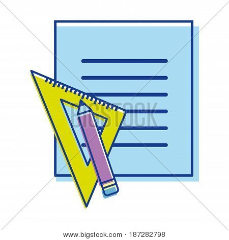 peper blog with study tools, vector illustration design