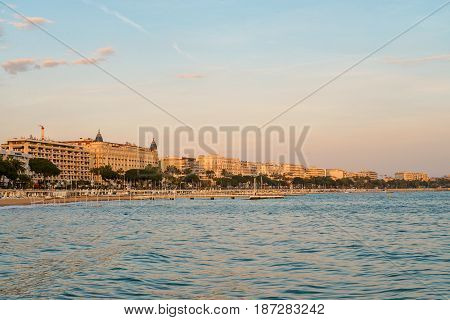 Cannes At Sunset