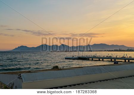 Sunset In French Riviera