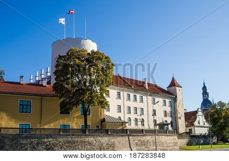 Riga castle. The castle is a residence for a president of Latvia