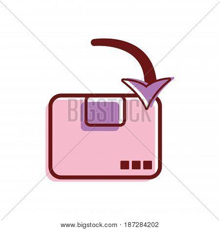delivery post card services, vector illustration design