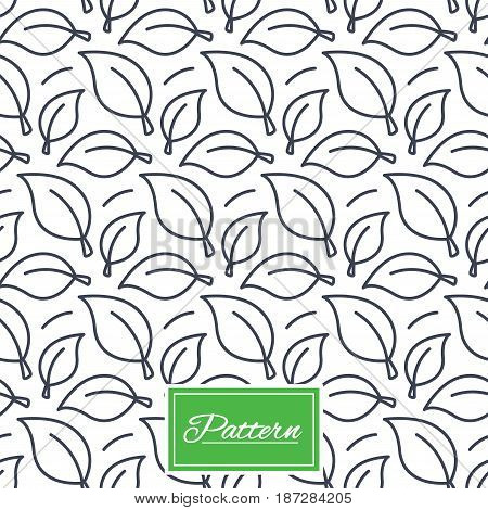 Leaves lines texture. Stripped geometric seamless pattern. Modern repeating stylish texture. Abstract minimal pattern background. Vector