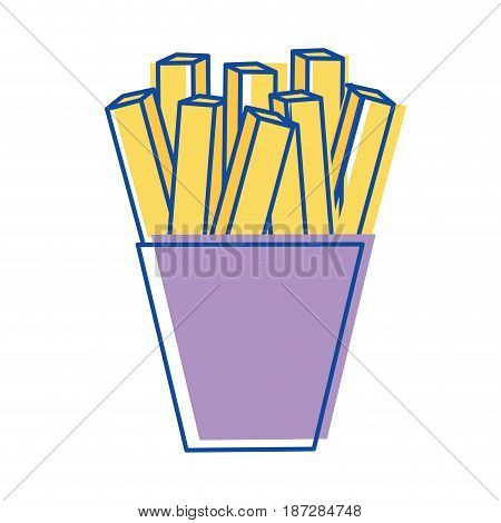 fries french fast food icon, vector illustration design