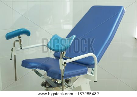 An armchair for inspection of girls in the gynecology room