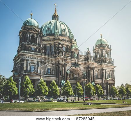 The Berlin Cathedral (berliner Dom) In Berlin, Germany.