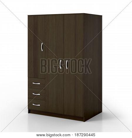 Closed Wardrobe Isolated