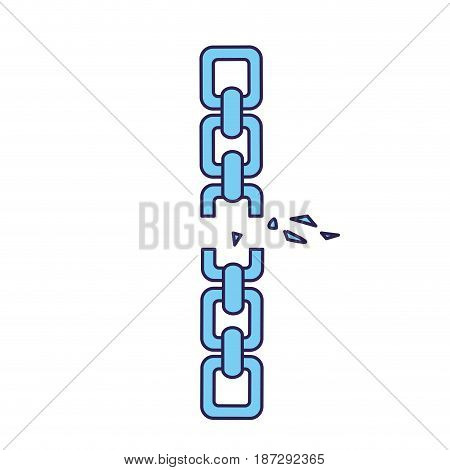 good metal chain to protect something, vector illustration