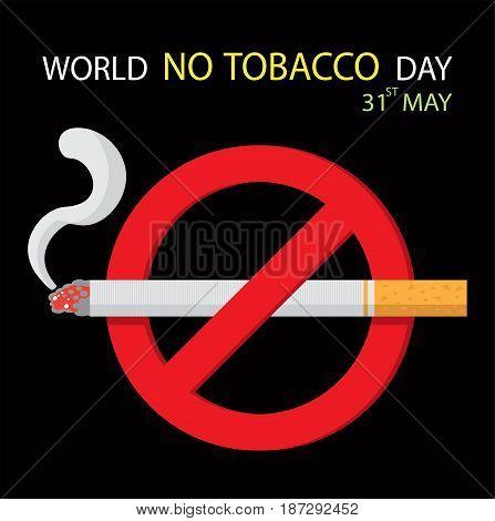 World no tobacco day, No smoking vector illustration.