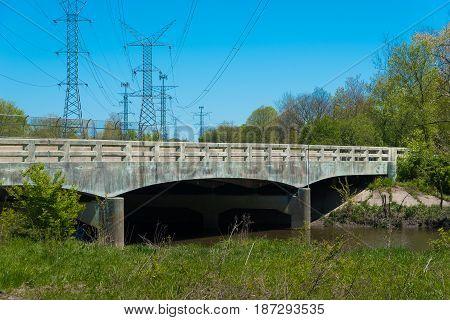 Big Bridge In A Park In The Suburbs