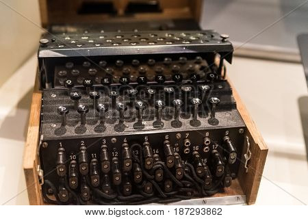 Enygma cryptography device from World War Two