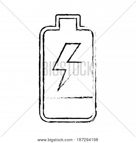 line battery power electric digital charge, vector illustration