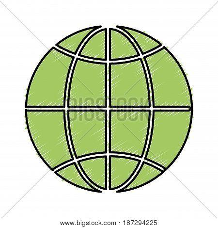 global symbol to earth planet, vector illustration design