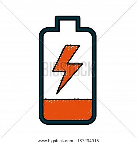 battery power electric digital charge, vector illustration
