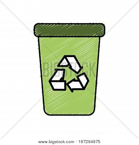 recycle can trash to care environment, vector illustration