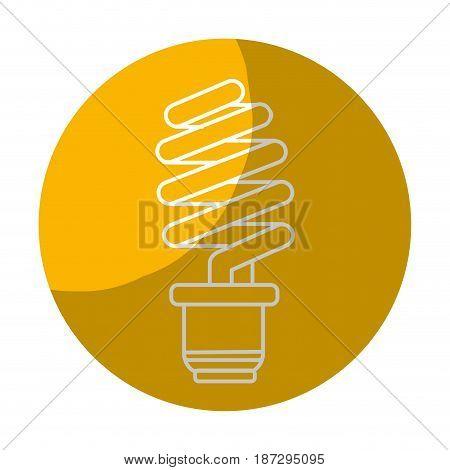 sticker save energy light bulb, vector illustration design