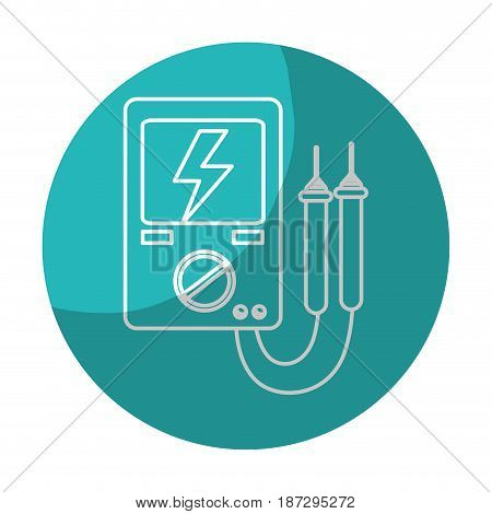 sticker energy logger to meter electricity in the planet, vector illustration