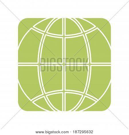 label global symbol to earth planet, vector illustration design