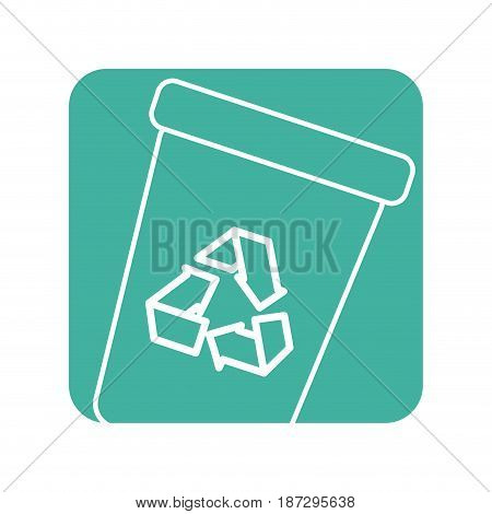 label recycle can trash to care environment, vector illustration