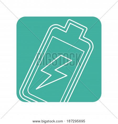 label battery power electric digital charge, vector illustration