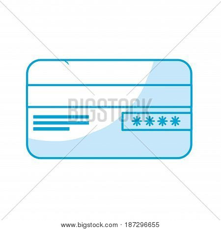 silhouette credit card financial and security transaction, vector illustration