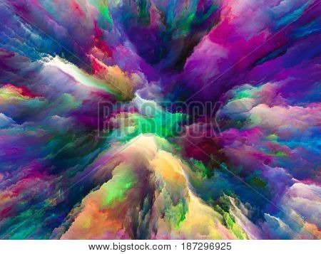 Acceleration Of Surreal Paint