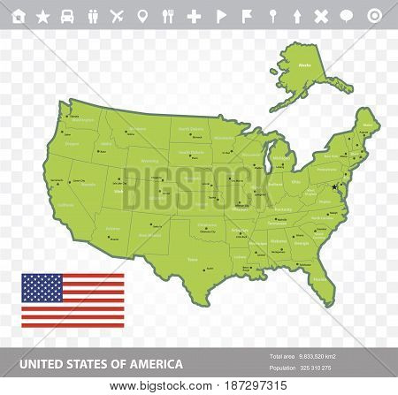 United States of America and the flag-vector image