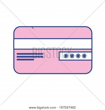 credit card financial and security transaction, vector illustration