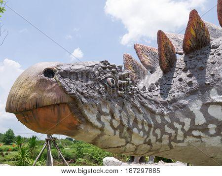 Dinosaur Statue In Theme Park