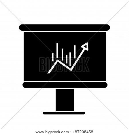 contour board with statistic arrow up to financial business, vector illustration