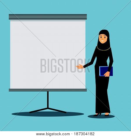 Arabian Businesswoman at a presentation work job