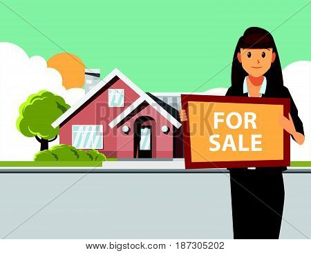 Background image of dream house residence sale