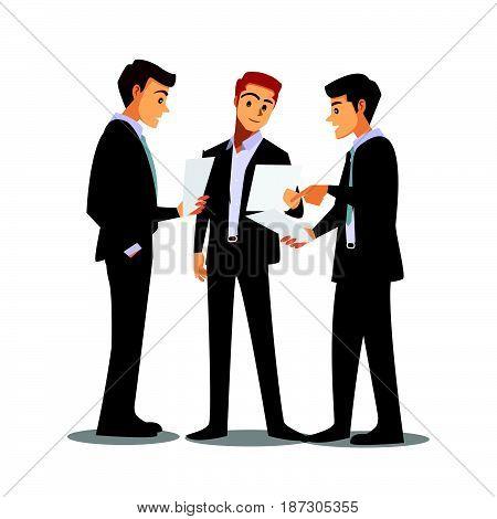 businessmen consulting teamwork professional job work job