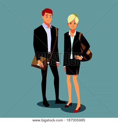 businessmen consulting job marketing working  two man