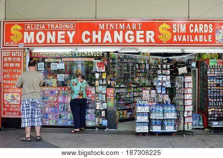 Money Changer Shop On Orchard Road, Singapore
