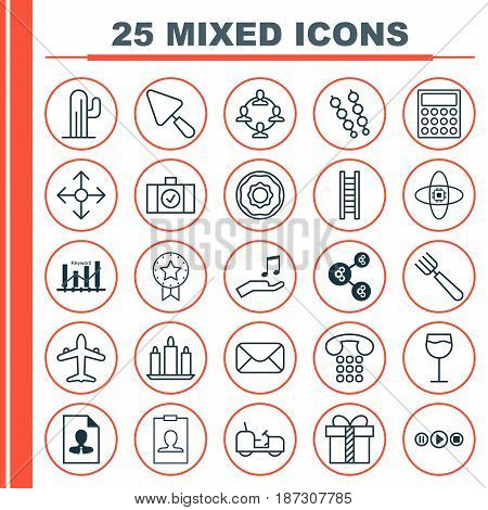 Set Of 25 Universal Editable Icons. Can Be Used For Web, Mobile And App Design. Includes Elements Such As Identity Card, Keyword Optimization And More.