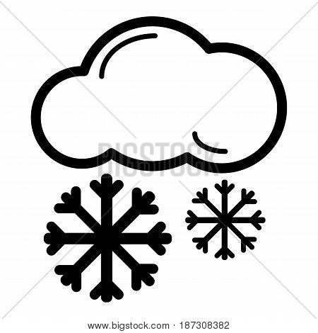 snow cloud meteo icon. Vector illustration isolated on white. eps 10