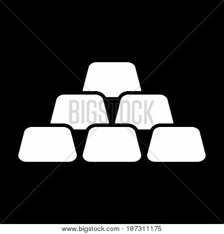 Golden bars vector icon. Black and white gold illustration. Solid linear money icon. eps 10