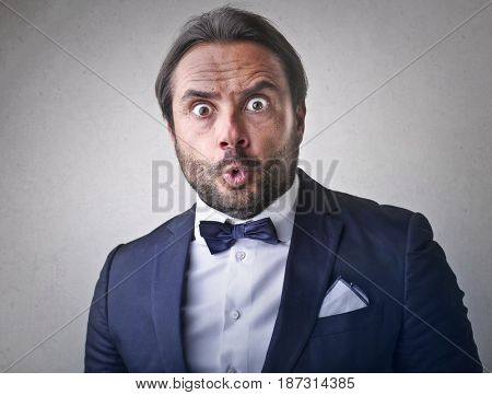 Surprised gentleman
