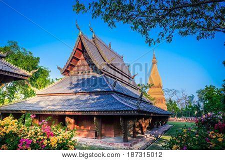 SAMUT PRAKAN THAILAND APRIL 23 2017 - Ancient City Park Muang Boran Samut Prakan province Thailand