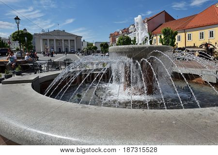 VILNIUS - MAY 20: Vilnius Old Town on May 20 2017 in Vilnius Lithuania. Vilnius Old Town was included in the UNESCO World Heritage List.