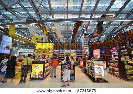 Duty Free Shop At Suvarnabhumi Airport , Bangkok
