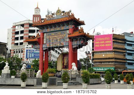 Chinatown Gate Yoawarach In Bangkok