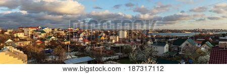 Panorama of the city Sevastopol top view