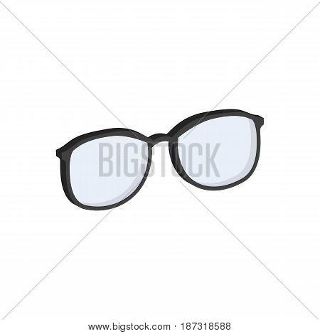 Glasses, Eyeglasses Symbol. Flat Isometric Icon Or Logo. 3D Style Pictogram For Web Design, Ui, Mobi