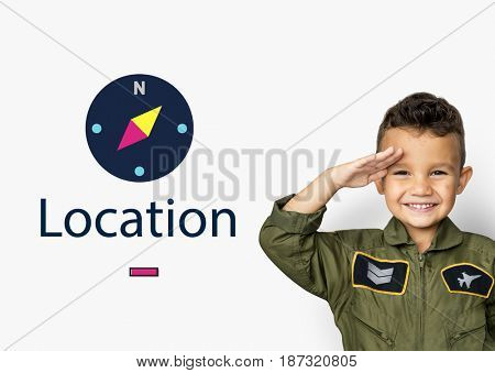 Compass Navigation Location Direction Graphic
