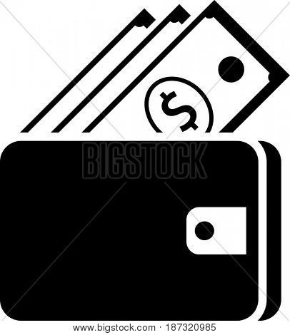 Wallet Icon  Raster Illustration