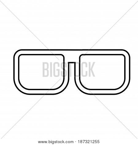 line nice glasses accessory to can see, vector illustration